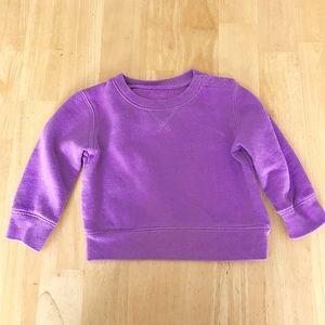 primary.com Shirts & Tops - Baby lavender sweatshirt